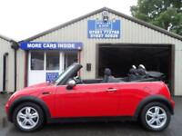 2008 08 MINI CONVERTIBLE 1.6 ONE 2D 89 BHP ALLOYS ONLY 2 OWNERS
