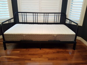 Ikea Fyresdal Twin Bed/Day Bed and Haugesund Mattress