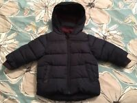 Baby boys winter coats 6-9m and 9-12m