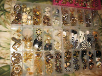 294 pairs of fashion  and vintage clip on earings