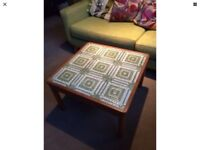 Retro 1975 Danish Tiled Top Table by Trioh!