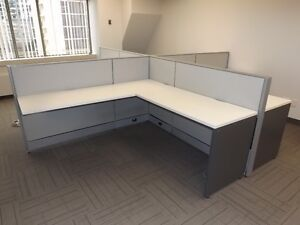6'x6' WORK STATIONS, $495 PER WORK SPACE, USED, EXCELLENT COND.