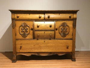 Solid Oak Antique Hutch / Cabinet