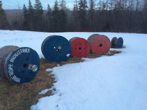 Wooden spools for sale  different sizes