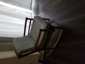 Antique ladder and rocking chair