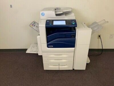 Xerox Workcentre 7845i Color Copier Machine Network Printer Scanner Fax Finisher