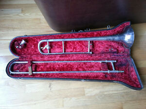 TROMBONE AND CASE MADE IN ENGLAND