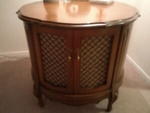 Side Table with Storage Compartment