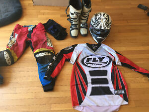 Moto x helmet and boot and clothes