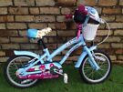 Cherry Lane girls bike and matching helmet