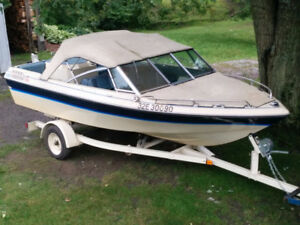 Open bow 140hp boat and trailer