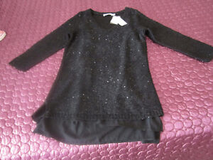 Black Sequin Sweater/Tunic