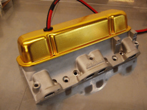 BB Pontiac V/8 Moroso Gold Tall Valve Covers.