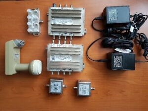 Bell and Dish Network SW44 switch and power supplies