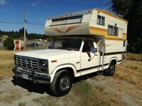 1982 Ford F-250 Pickup Truck with Camper