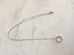 Ladies White Gold Chain with Pendant