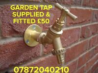 Garden tap supplied & fitted £50