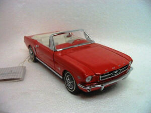 Ford Mustang 1965 convertible 1/43 1987 Franklin Mint