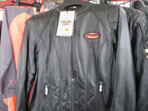 Harley Davidson Ladies Leather Motorcycle Jacket Re-Gear Oshawa