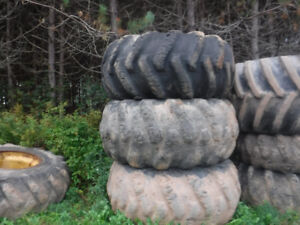 THREE 30.5X32 FORESTRY TIRES