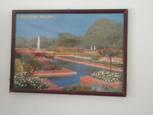 Decorative framed Mughal Gardens, New Delhi print wall hanging London Ontario image 3
