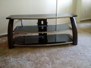TV Stand- Wood/Glass