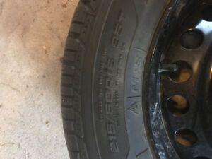 Snow tires on rims.  EXCELLENT condition