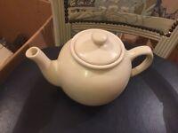 Large cream teapot