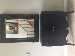 Cabinet and mirror set