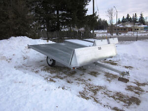 2017 Double Wide Rainbow Snowmobile Trailer