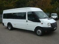 Ford Transit Medium Roof 17 Seater Tdci 135Ps DIESEL MANUAL WHITE (2013)