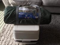 Camping porta potti and toilet/ utility tent