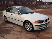 2000/W REG BMW 318i SE WHITE FULL BLACK LEATHER SERVICE HISTORY 2KEYS IMMACULATE