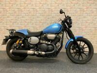 2017 17 Yamaha XVS 950 racer in metallic blue stunning bike.