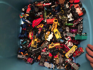 Well over 200 toy cars