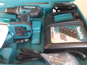 MAKITA 3 outils, Perceuse + Battérie + chargeur Neuf