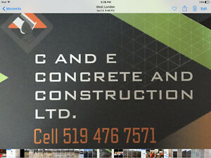 CandE concrete & construction LTD London Ontario image 1