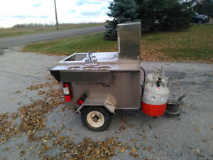 Toeable BBQ trailer with cooler and wash station