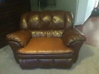 Leather loveseat $325 with free matching couch