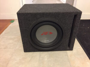 """Alpine type R 10"""" subwoofer in ported box"""