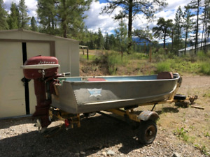12ft Aluminum boat with trailer.