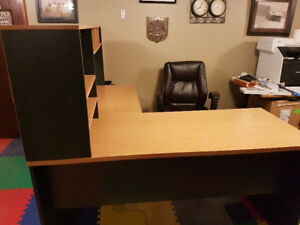 Large L-Shaped Desk with Shelving