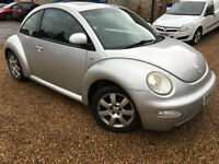 2001 '51' VW Beetle 2.0 Petrol. Manual. Quirky Fun Bargain Car. Px Swap