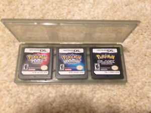 3 different Pokemon DS games(black,pearl,diamond)