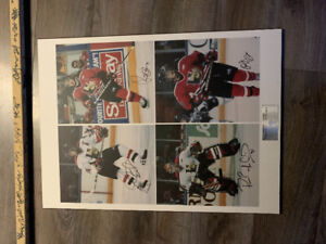 Halifax Mooseheads Autographed Picture & Stick