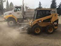 Bobcat(skidsteers)  and truck services 780 910-9339
