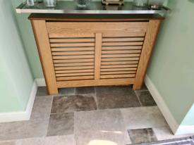 Oak effect radiator cover
