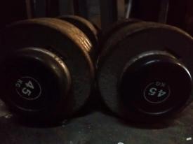 Dumbells 45 kg set