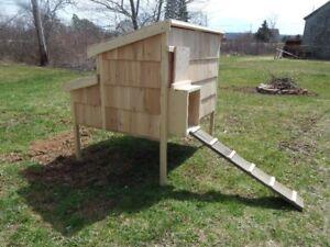 "48"" Cedar Sided Chicken Coop $375.00"