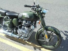 Royal Enfield Classic 500 Battle Green Retro Single